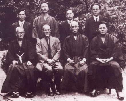 Maîtres d'Okinawa en 1937