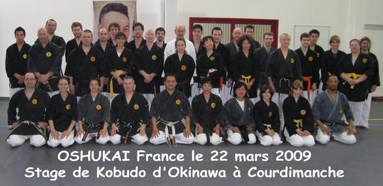 Stage Oshukai France de Kobudo à Courdimanche 22/03/2009