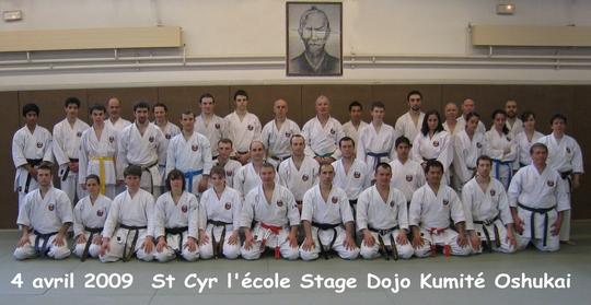 Stage Dojo Kumite St Cyr l'école Avril 2009