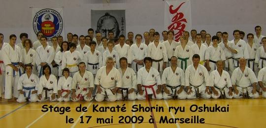 Stage de Karate du 17/05/2009 à Marseille