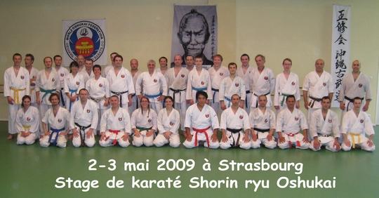 Stage Karaté de Strasbourg 02-03/Mai/2009
