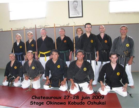 Stage de kobudo Oshukai de Chateauroux 27-28/06/2009