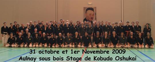 Stage Kobudo Aulnay 31/10-01/11 2009