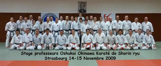 Stage professeurs Starsbourg 14-15/11/2009