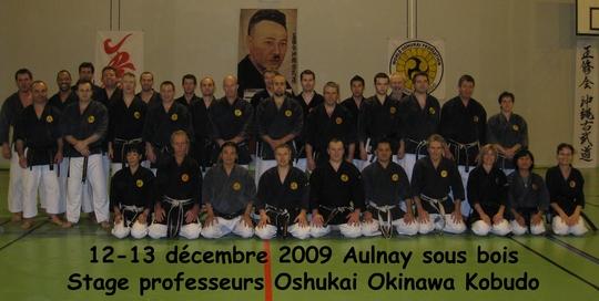 Stage professeurs Oshukai de Kobudo Aulnay 2009
