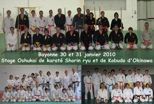 Stage Karaté et Kobudo de Bayonne 31/01/2010