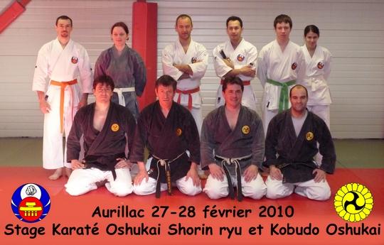 Stage Karaté/Kobudo Aurillac 27-28/02/2010