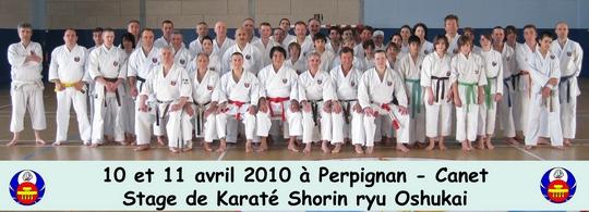 Stage Karaté Oshukai Perpignan 10-11 avril 2010