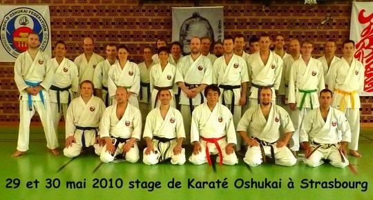 Stage de Karate Oshukai de Strasbourg des 29 et 30 mai 2010