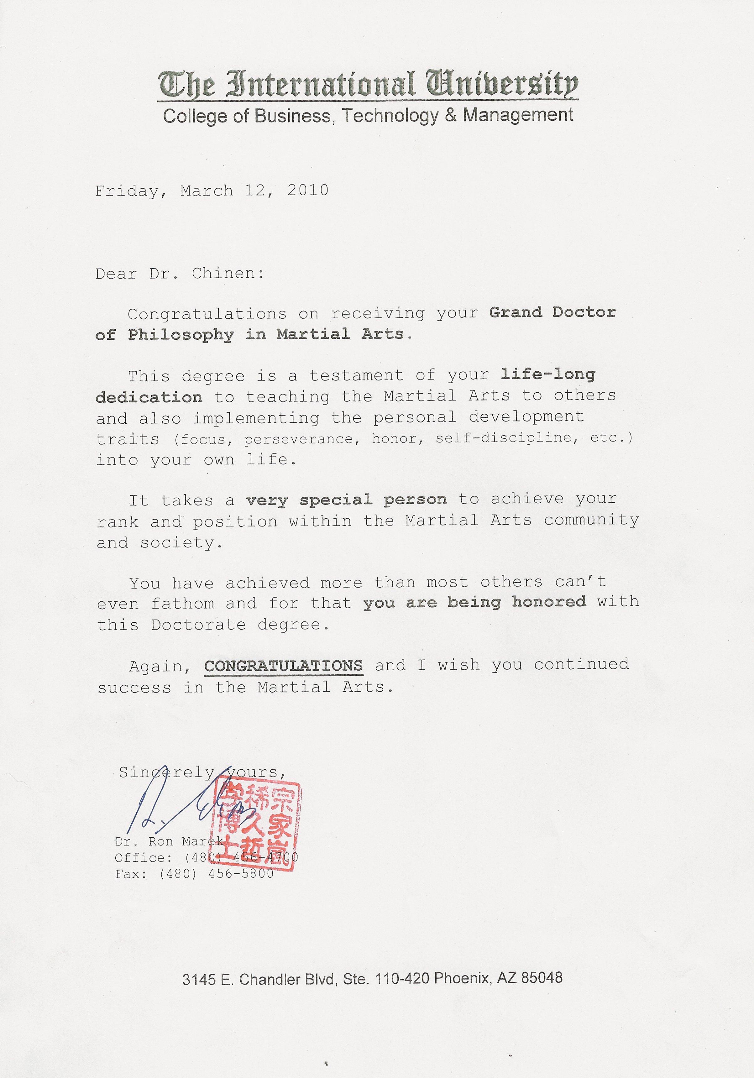 lettre chinen doctorat