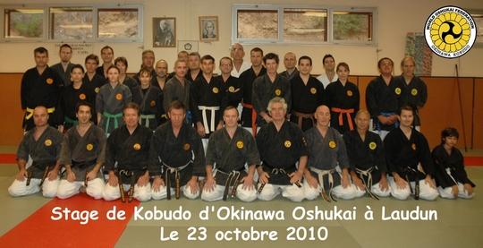 Stage de Kobudo de Laudun du 23 octobre 2010