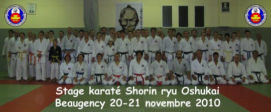 Stage Oshukai Shorin ryu de Beaugency 20-21 novembre 2010