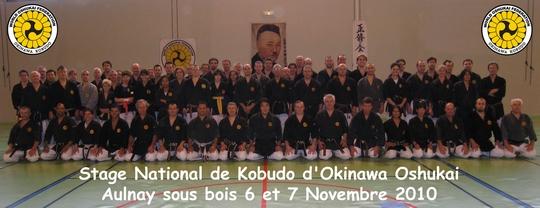 stage National Oshukai de Kobudo à Aulnay 6-7 Novembre 2010
