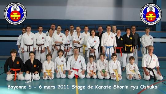 Stage Oshukai Karate et Kobudo – Bayonne 2011