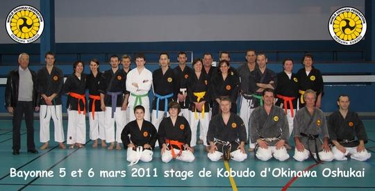 stage Karate-kobudo Bayonne 2011