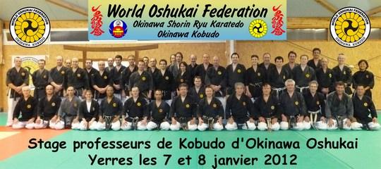 Stage professeurs Oshukai de Kobudo -Yerres JAN 2012