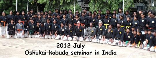 stage de kobudo en Inde