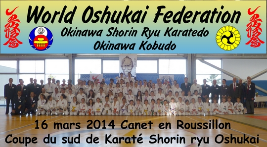Coupe du SUD de Karate Shorin Ryu Oshukai 2014