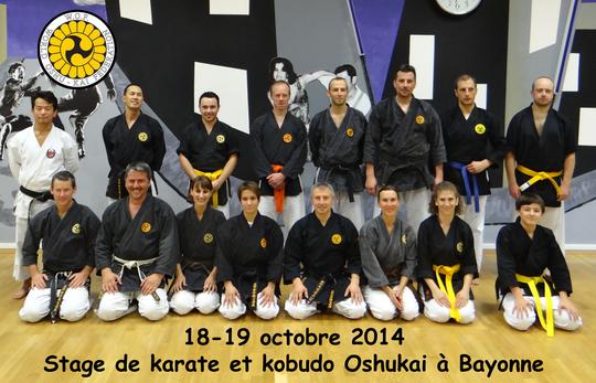 Stage Oshukai de Karate et Kobudo à Bayonne