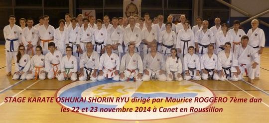 Stage de Karate Oshukai de Canet en Roussillon