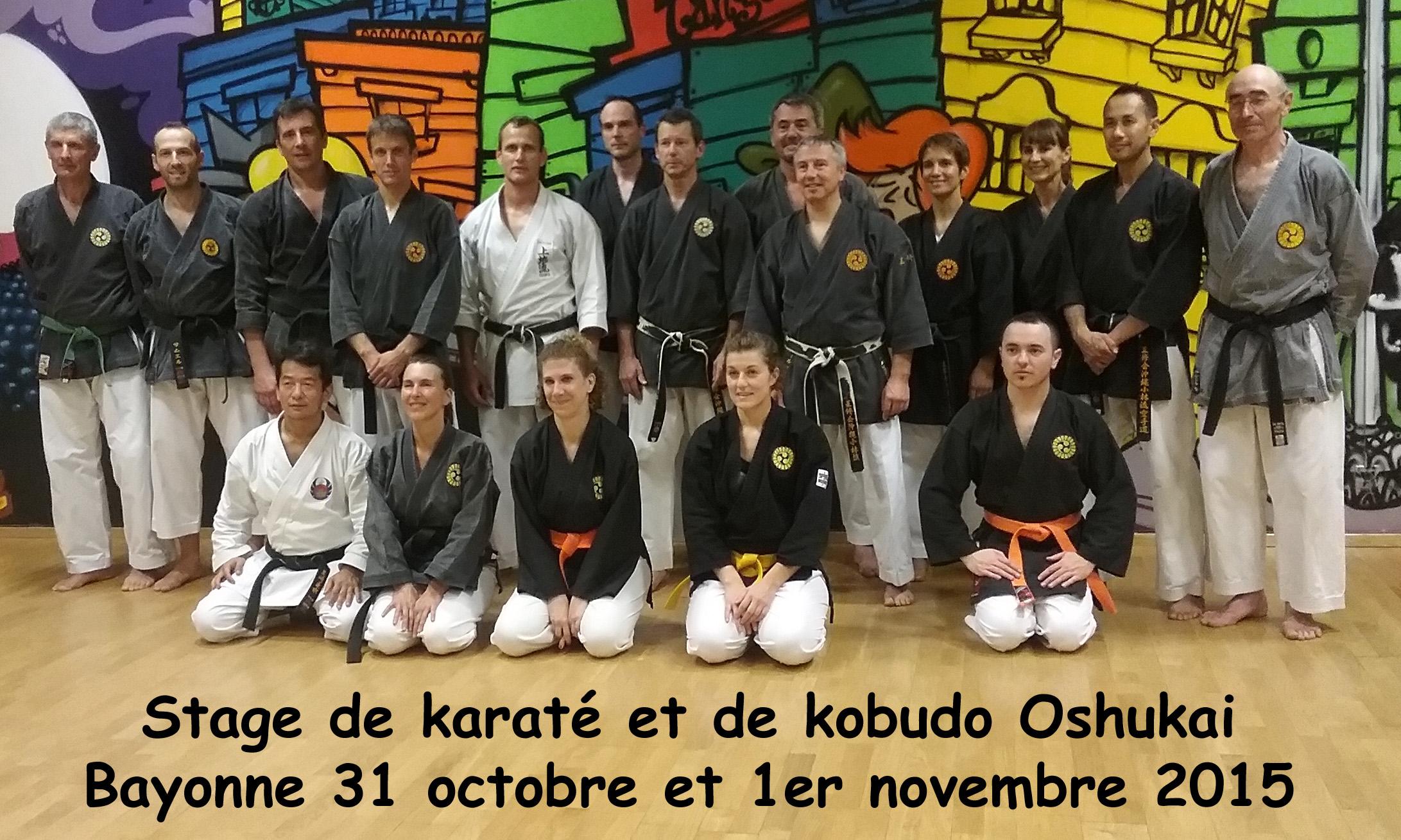 Stage Oshukai Karaté et Kobudo à Bayonne