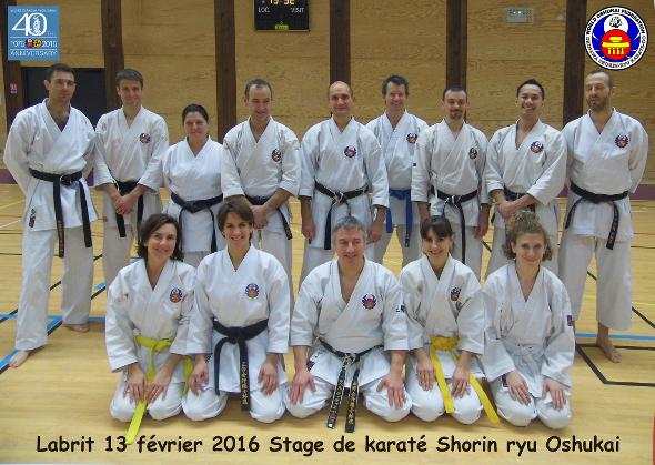 Stage Régional Oshukai Karate Shorin Ryu Kobudo d'Okinawa