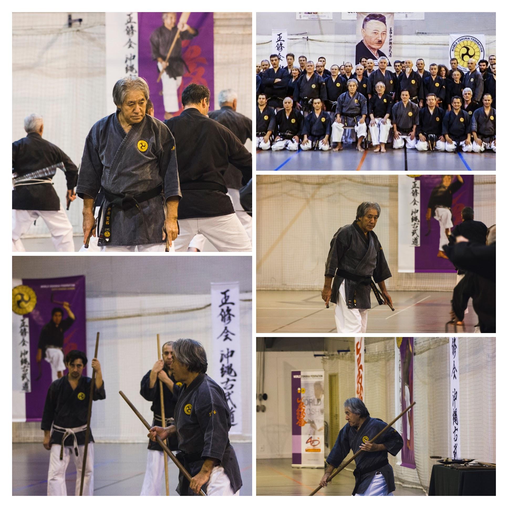 Stage International Oshukai de Kobudo d'Okinawa dirigé par Sensei CHINEN 9è Dan Hanshi