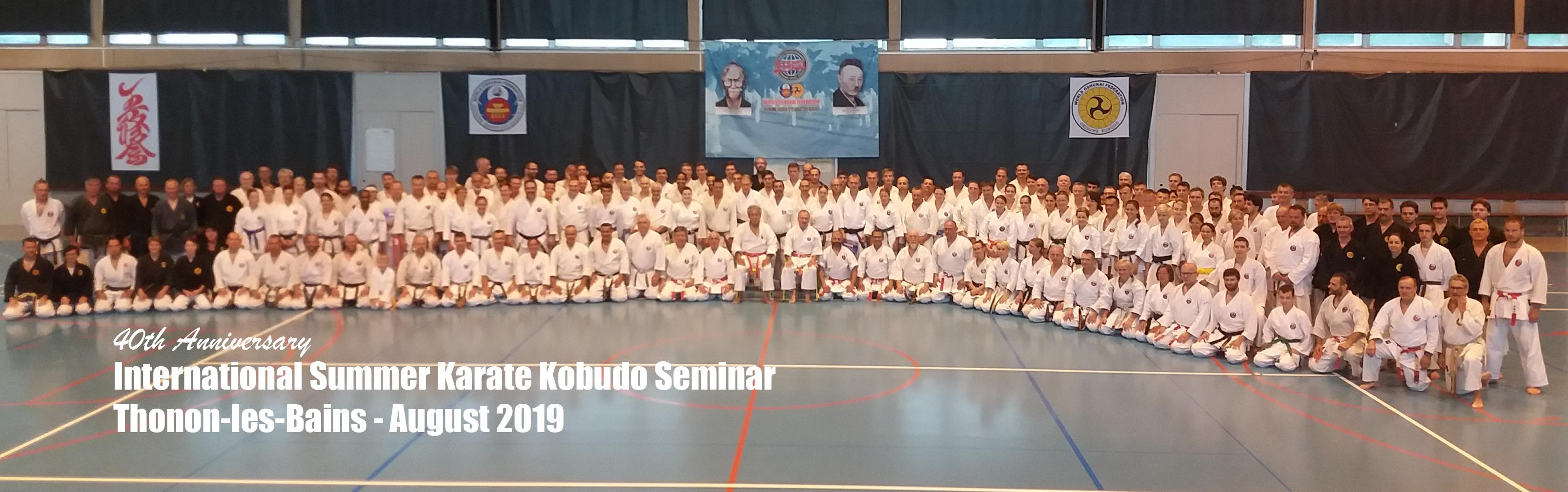 Stage de Karate et Kobudo de Thonon 2019
