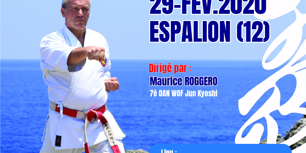 Stage de karate traditionnel a espalion